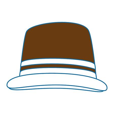 흰색 배경 위에 모자 아이콘 화려한 디자인 벡터 일러스트 레이 션
