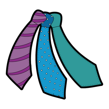 ties accessory icon over white background colorful design vector illustration