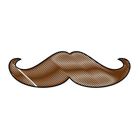 mustache icon over white background vector illustration Illusztráció