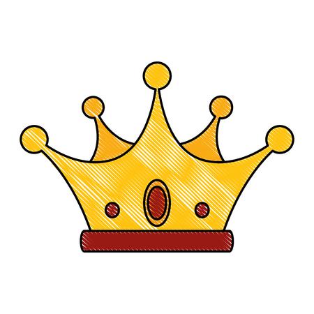 crown icon over white background colorful design  vector illustration Ilustrace