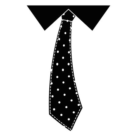 tie accessory  icon over white background vector illustration