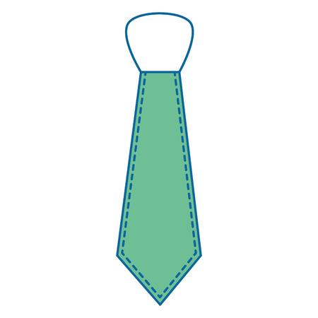 tie accessory icon over white background colorful design vector illustration