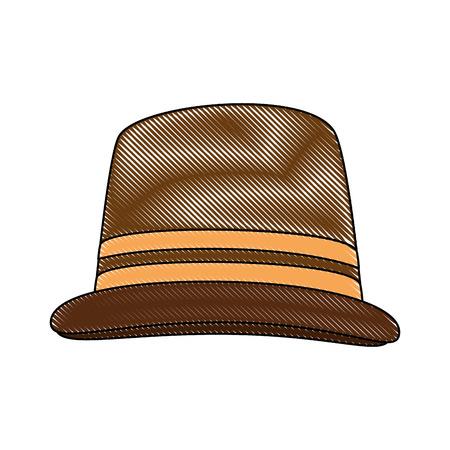 白地カラフルなデザイン ベクトル イラスト上の帽子アイコン