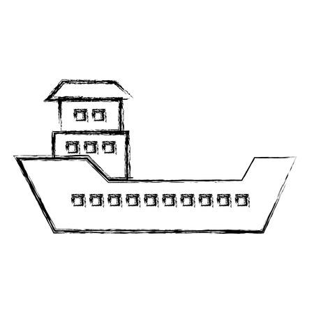 船船貨物のアイコン ベクトル イラスト デザイン