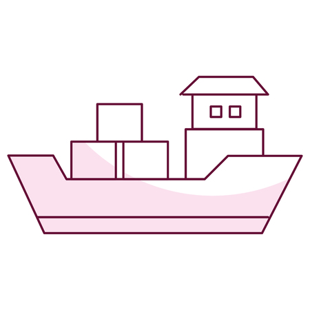 ship boat cargo icon vector illustration design Banco de Imagens - 81657921