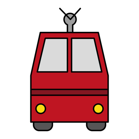 tram vehicle isolated icon vector illustration design Ilustração