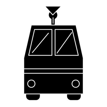 tram vehicle isolated icon vector illustration design Illustration