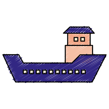 ship boat cargo icon vector illustration design Ilustrace