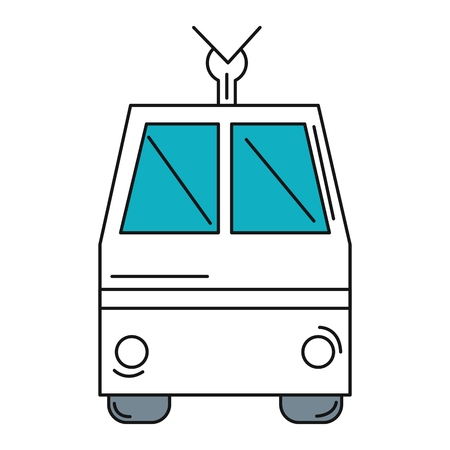 tram vehicle isolated icon vector illustration design Stock Vector - 81657977