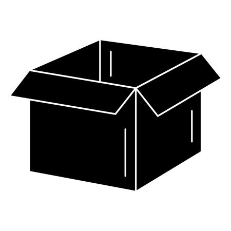 pasteboard: box carton delivery service vector illustration design