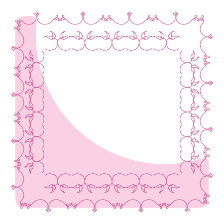 Elegant Victorian with square shape frame illustration design.