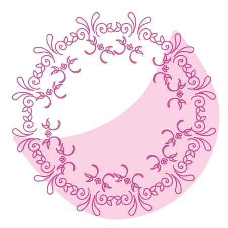 Elegant Victorian with circular shaped frame vector illustration design Illustration