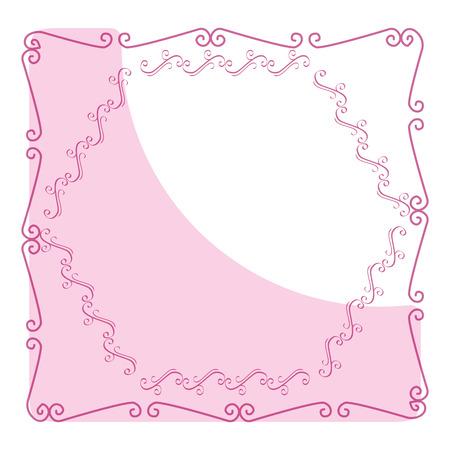 Elegante viktorianische mit quadratischen Form Rahmen Vektor-Illustration Design Standard-Bild - 81658822
