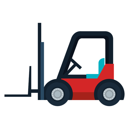 Forklift cart isolated icon vector illustration design