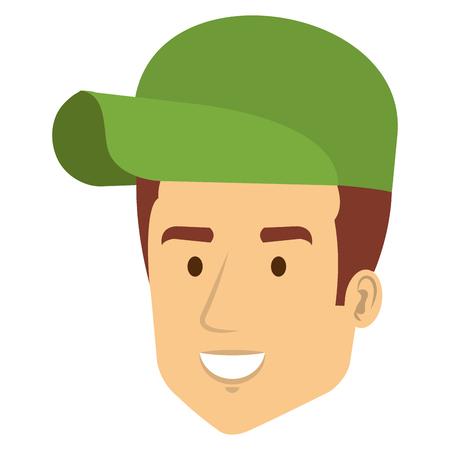 Diseño del ejemplo del vector del carácter del avatar del trabajador de entrega Foto de archivo - 81658831
