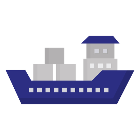Ship boat cargo icon vector illustration design