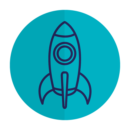 spacecraft base flat icon vector illustration design image