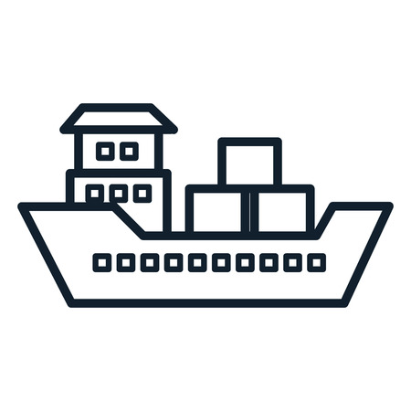 ship boat cargo icon vector illustration design Illustration