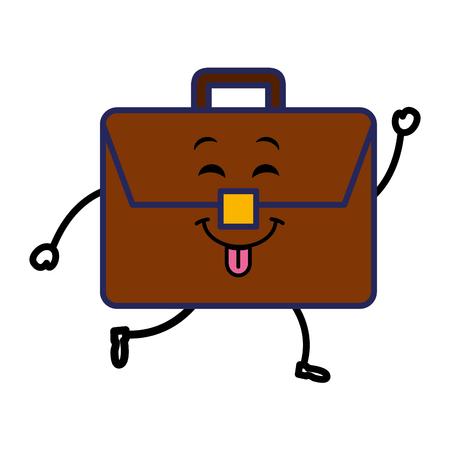 Portfolio Briefcase, kawaii character vector illustration design