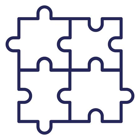パズル トークン フラット アイコン ベクトル illiustration デザイン画像