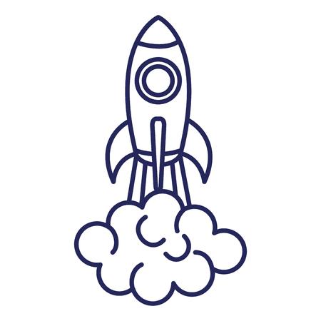 Spacecraft base flat icon vector illustration design image Ilustrace
