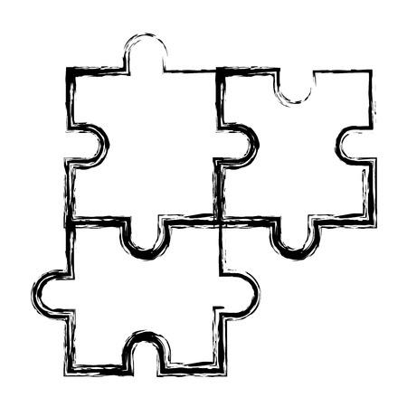 Puzzle tokens flat icon vector illiustration design image