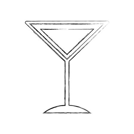 Tropisch de illustratieontwerp van het cocktailkoppictogram