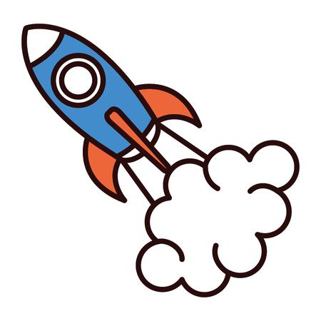 spacecraft base flat icon vector illustration design image