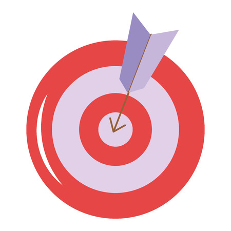 Target with arrow icon vector illustration design Ilustrace