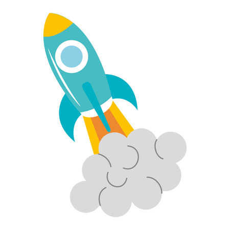 space station: Spacecraft base flat icon vector illustration design image Illustration