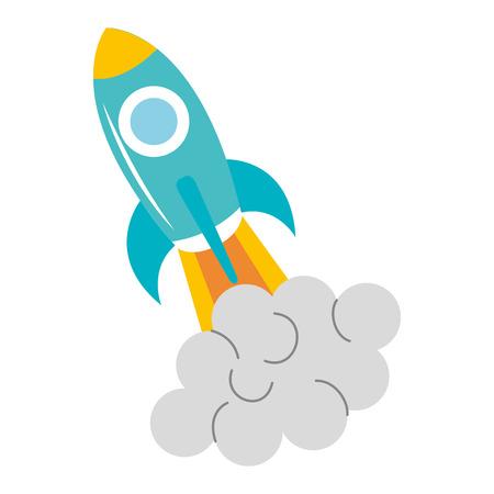 Spacecraft base flat icon vector illustration design image Illustration