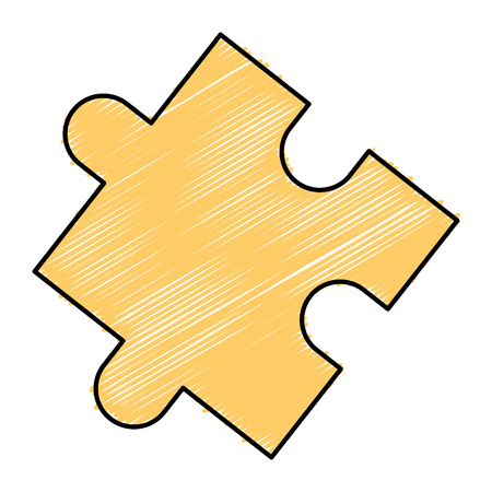 Puzzle tokens flat icon vector illiustration design image