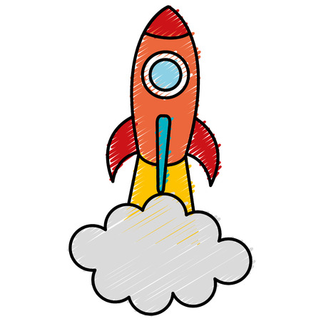 Spacecraft base flat icon vector illustration design image Ilustracja