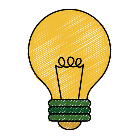 Light bulb isolated icon vector illustration design
