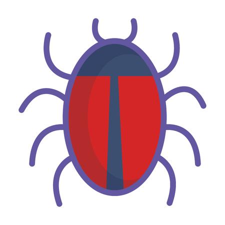 Animal de error aislado diseño de ilustración de vector de icono Foto de archivo - 81663313
