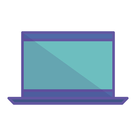 computer laptop isolated icon vector illustration design Illustration