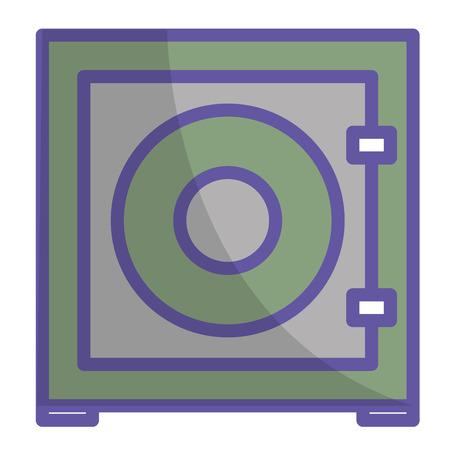 safe box isolated icon vector illustration design Ilustração