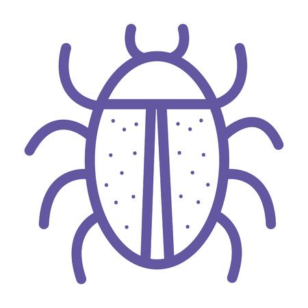 Animal de error aislado diseño de ilustración de vector de icono Foto de archivo - 81663402