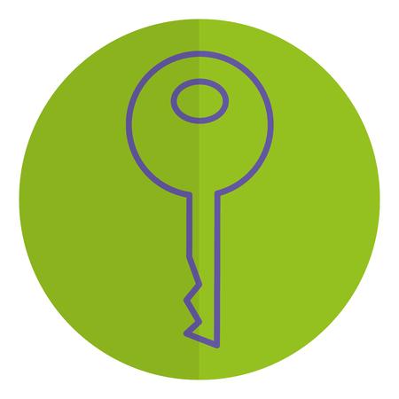 key door isolated icon vector illustration design Stock Vector - 81663449