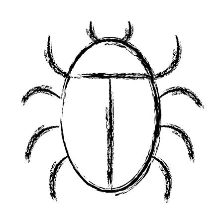 Animale bug isolato icona illustrazione vettoriale di progettazione Archivio Fotografico - 81663451