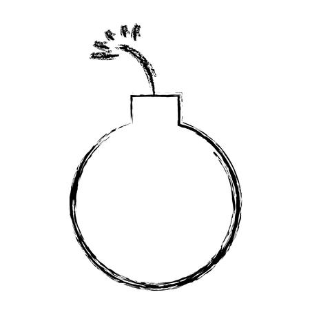 boom explosive isolated icon vector illustration design Stock Illustratie