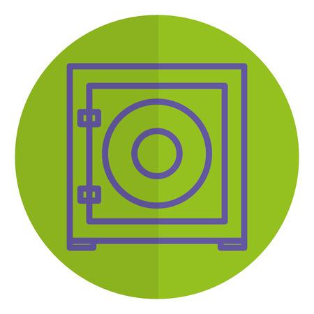 safe box isolated icon vector illustration design 向量圖像