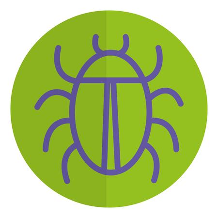 버그 동물 절연 아이콘 벡터 일러스트 디자인