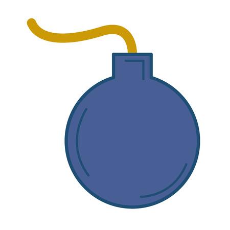 boom explosive isolated icon vector illustration design Ilustração