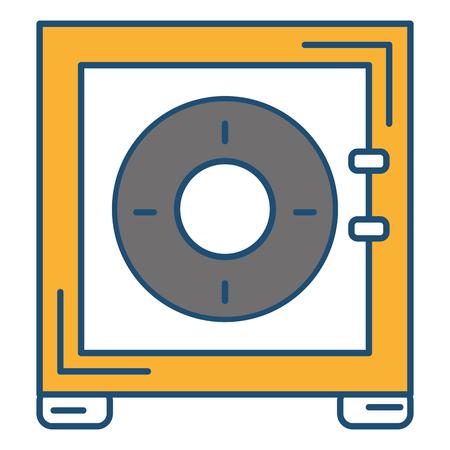 Caja de seguridad icónico ilustración vectorial de diseño Foto de archivo - 81663868
