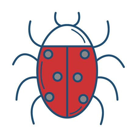 Coccinelle animal isolé icône illustration vectorielle design Banque d'images - 81663889