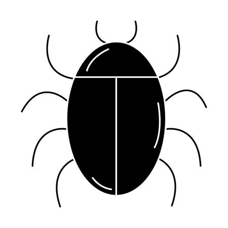 バグ動物分離アイコン ベクトル イラスト デザイン