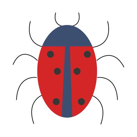 Diseño aislado animal del ejemplo del vector del icono de la mariquita Foto de archivo - 81663897