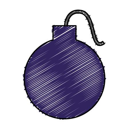 boom explosive isolated icon vector illustration design Illustration