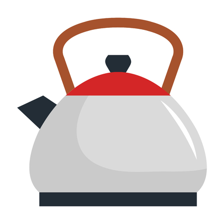 kitchen kettle isolated icon vector illustration design  イラスト・ベクター素材